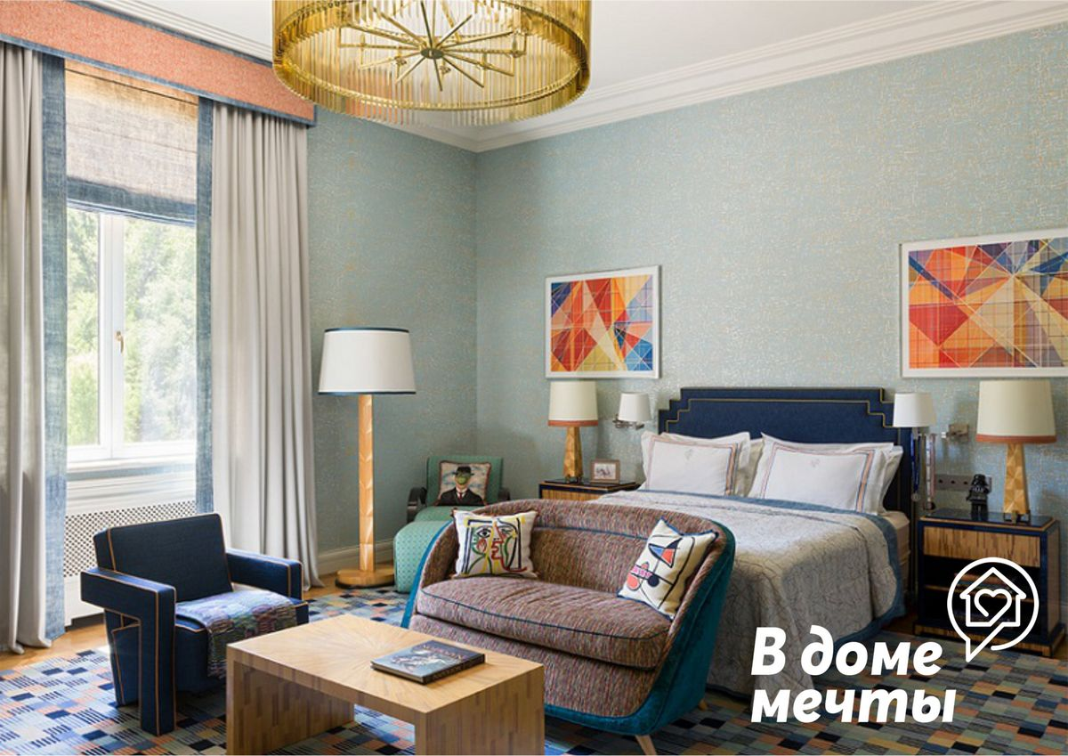 Как выбрать цвет портьер для спальной комнаты