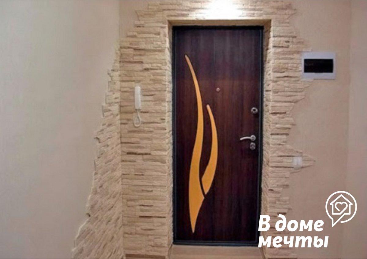 Как облицевать дверной проем искусственным камнем