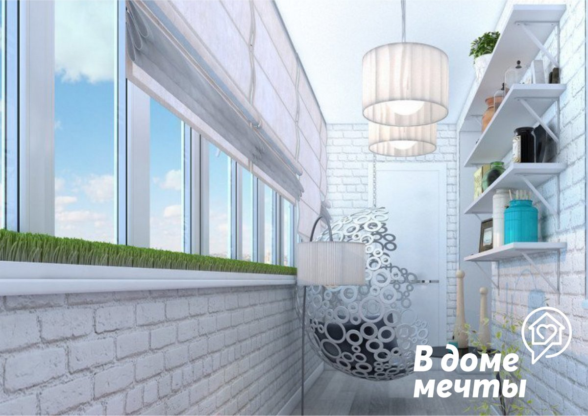 выбор оформления зависит от размера балкона