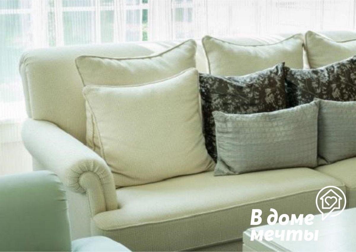 . Крупные и плотные подушки с дополнительными креплениями в виде липучек