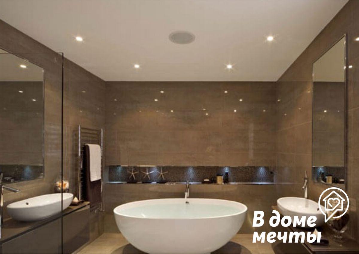 Потолок в ванной: шесть лучших материалов