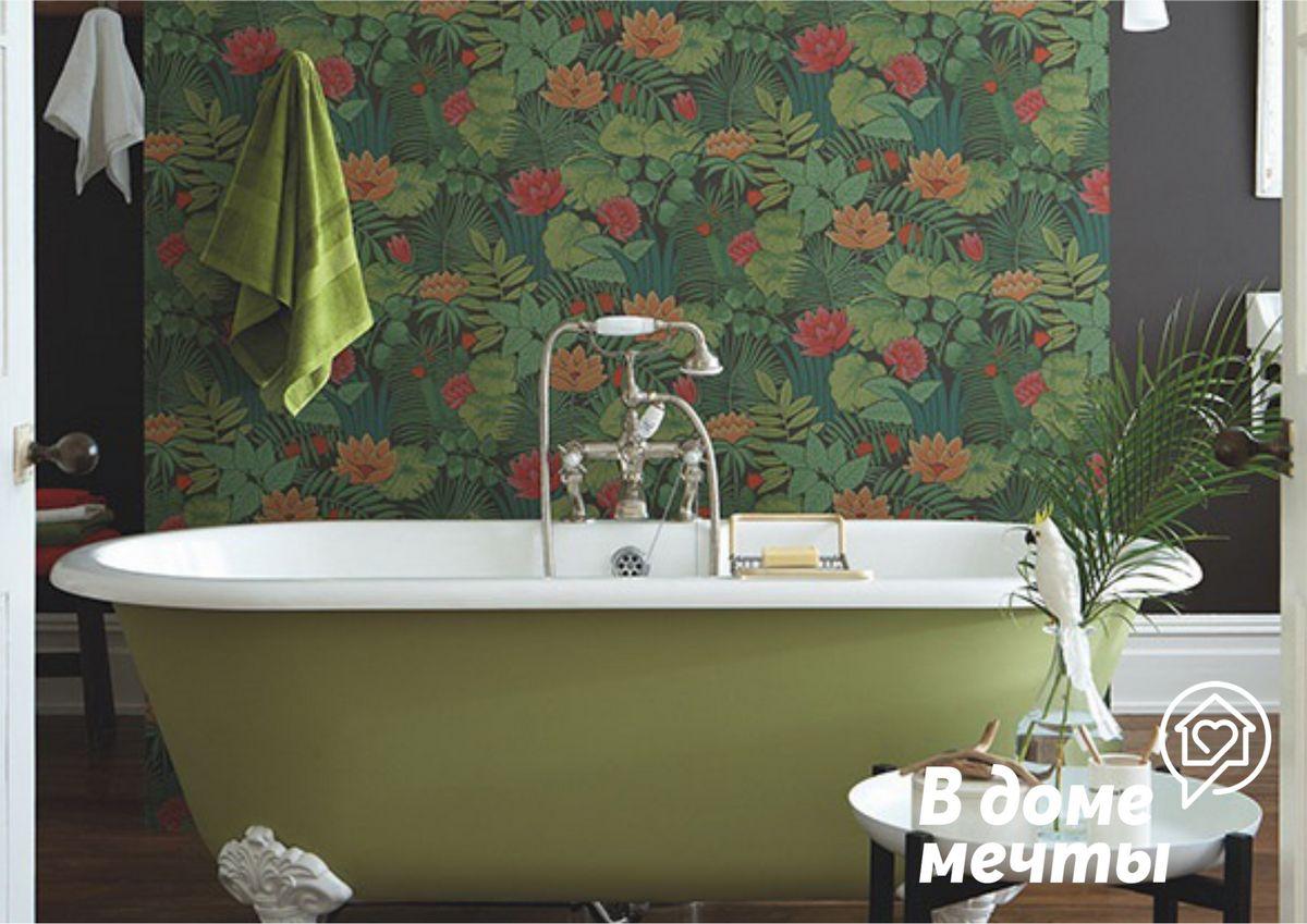 Лучшие виды обоев для ванной