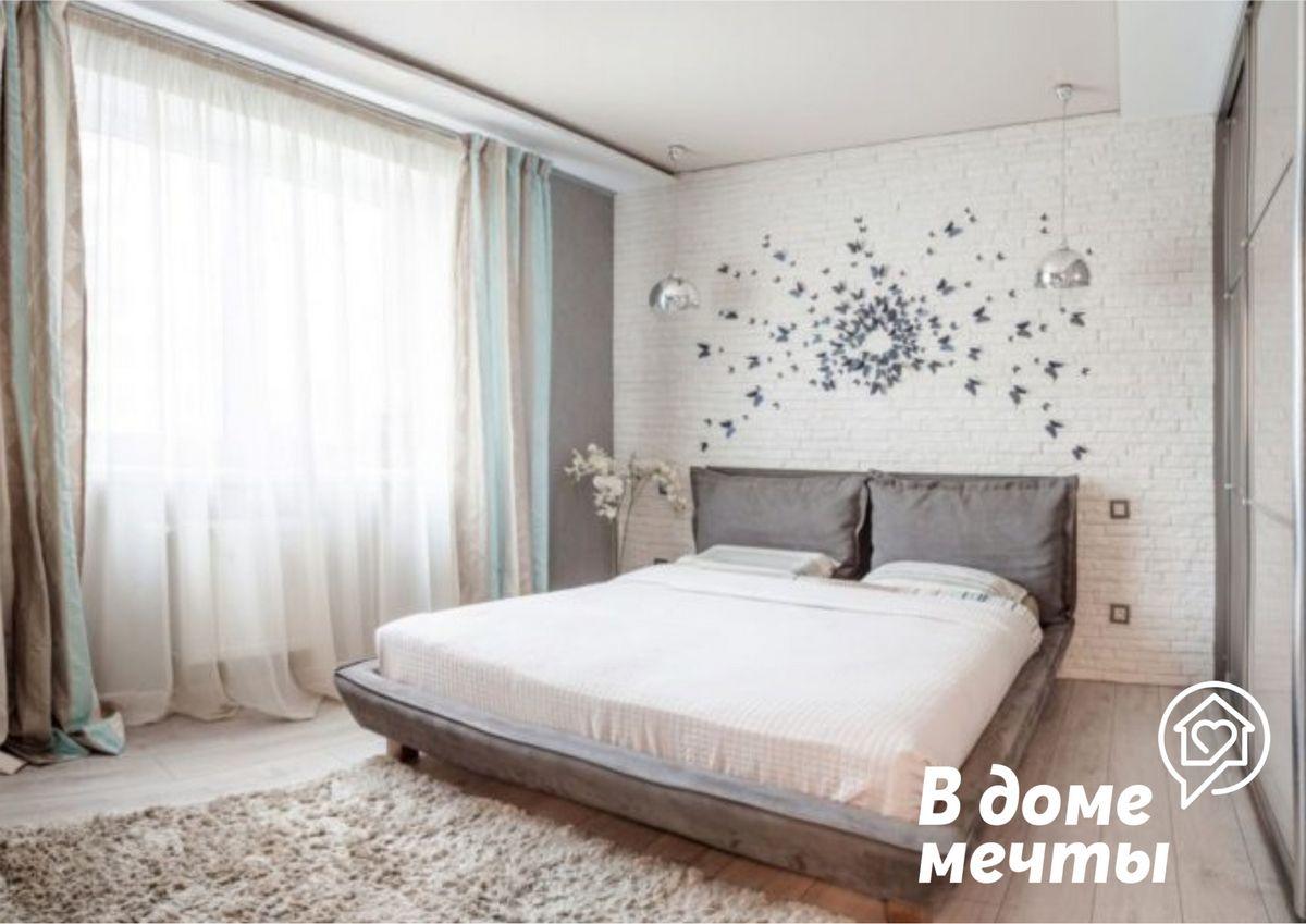Цветовая гамма компактной спальни